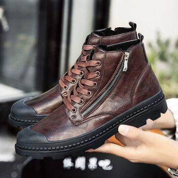 Outdoor Leisure Comfortable Leather Shoes Ankle Boots