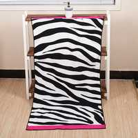 70x140cm Microfiber Soft Zebra Stripe Pattern Beach Bath Towels Absorbent Quick Dry Washcloth