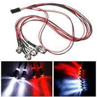 4Leds LED Light Set Headlight Taillight for 1/10 1/8 Oil Electric Rc Car Model Parts