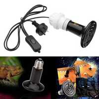 E27 50W 75W 100W 150W 200W Ceramic Heat Emitter Lampholder Bulb Adapter for Reptile Pet AC220V