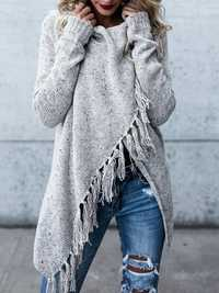 Women Winter Warm Tassel Sweater Coats
