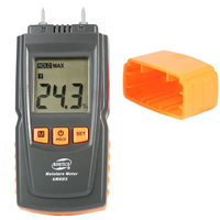 GM605 Digital LCD Display Wood Moisture Meter Humidity Tester Timber Damp Detector Portable Wood Moisture Meter