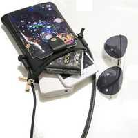 Women PU Mini Card Holder Coin Purses Crossbody Bag Handbags Phone Bag