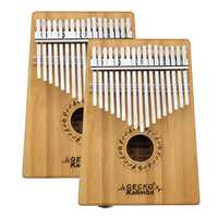 GECKO K17BA 17 keys Kalimba Bamboo B Tone Thumb Piano Finger With Tune Hammer