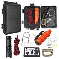 20 In 1 SOS Emergency Survival Gear Kit Portable Multi Wilderness Camping Hunting Fishing Hiking Traveling Survival Tools Set