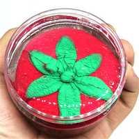 120Ml Strawberry Squishy Slime Crystal Mud DIY Non-toxic Children Putty Safty Health Toy