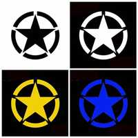 Five-pointed Star Stickers Motorcycle Car Tank Cup Body Decals Waterproof