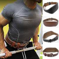 Men PU Lumbar Support Waist Belt Sports Gym Fitness Training Protector