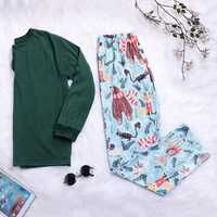 Mens Christmas Pattern Casual Home Comfy Holiday Pajamas Set