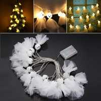 Battery Powered 3.3M 20LEDs Sunny Dolls Shaped Warm White Waterproof String Light For Christmas