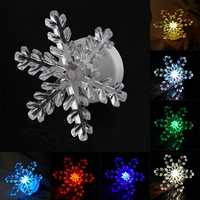 Christmas 3D LED Acrylic Night Light 7 Colors Flashing Touch Switch Christmas Home Decor