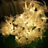 KCASA CSL-1 33FT 38LED Gardening LED String Light Autochromic Colorful Lily Wedding Patio Decoration