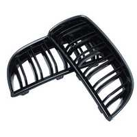 Pair Gloss Black Double Slat Sport Kidney Grille Grill Set For BMW E90 E91 05-08