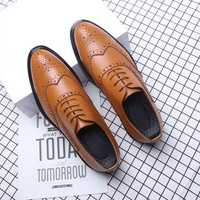 Brogue Carved Dress shoes Business Oxfords