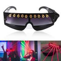 650nm Stage Red Laser Glasses Cool DJ Laser Glasses for Laser Pointer