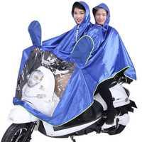 Waterproof Double Person Poncho Raincoat Rain Coat Motorcycle Scooter Rain Cape