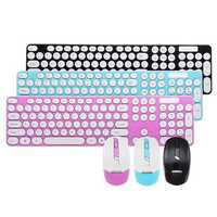 Ultra Thin Mute 2.4GHz Wireless 101 Keys Keyboard and 1600DPI Mouse Combo Set for Desktop Laptop