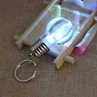 Rainbow Bright LED Light Bulb Pendant Keychain