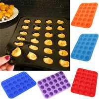 24 Cavity Silicone Muffin Cup Cake Chocolate Cookie Baking Mold Mould Pan Tray