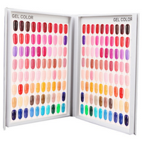 120 Grids Nail Gel Polish Card Chart Display Beauty Manicure Salon
