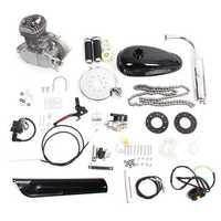PK80 Vesion 80cc 2 Cycle Motorcycle Muffler Motorized Bike Engine Accessories Set Silver