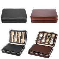 8 Grids Watch Display Zippered Travel Storage Box Case