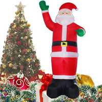 Christmas Party Home 1.2M Inflatable Santa Claus Air Blowing Up Costume Toys For Kids Children Gift