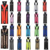 Children Kids Adjustable Elastic Braces Suspenders Y Back Neon UV Strap Clip-on Belt