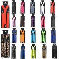 Children Kids Adjustable Elastic Braces Suspenders Y Back Neon UV Strap Clip-on Belt