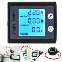 AC80V-260V 100A Digital Power Energy Meter Voltage Tester Ammeter Volt Meter Transformer