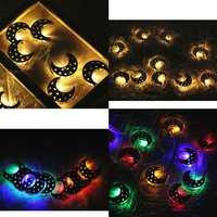 10 LED String Light Meniscus for Islam Eid Ramadan Moon Home Party Decor Ornament
