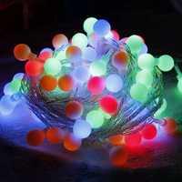 Christmas Colorful LED Star Venonat Ball Shape Light String Curtain Light Home Decor Wedding