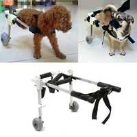 10 Inch Stainless Steel Pet Dog Cart Wheelchair Walk for Handicapped Doggie Folding Chair
