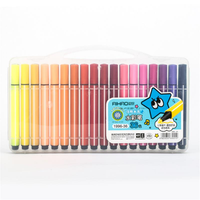 AIHAO 1996 36 Colors Art Marker Pen Drawing Set Colored Children Painting Watercolor Pens Safe Non-toxic Water Washing Graffiti