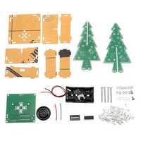 DIY LED Flash Kit Colorful Light Acrylic Christmas Tree with Music Electronic Learning Kit
