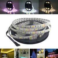 5M SMD 5050 300 LED Waterproof RGBWW Strip Flexible Tape Light Christmas Home Decoration Lamp DC12V