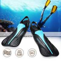 1 Pair Diving Train Foot Flippers Swimming Snorkelling Frog Shoes For Adult Kids Children