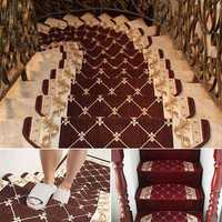 European Style Pastoral Carpet Stair Tread Anti Skid Step Rugs Stair Mats
