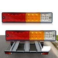 CNSUNNYLIGHT 12V 20 LED Car Tail Light Reversing Running Brake Turn Lamp for Truck Tailer