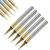 10pcs 0.1mm 15 Degree Titanium Coated Carbide Flat Bottom PCB Engraving Bit CNC Router Tool