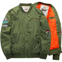 Mens Winter Fashion Bomber Jacket Thick Warm Flight Jacket