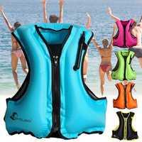 Manual Inflatable Life Jacket Sailing Boating Snorkeling Vest Swimming Survival Max Load 200kg