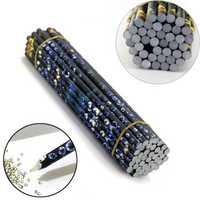 10Pcs Rhinestone Picker Wax Pencil Nail Crayons Point Art Dotting Paste Stick Pen
