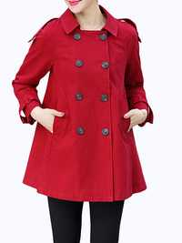 Women Lapel Autumn Trench Coats