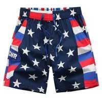 Mens Summer Cotton Seaside Vacation Beach Shorts Casual Loose Fifth Swimming Pants