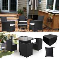 Garden Patio Rectangular Table Chairs Protective Cover Waterproof Dustproof Folding Furnitur Cover