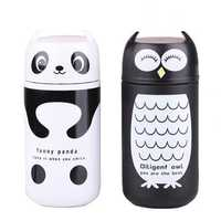 Cute Panda Owl Thermos 220ml Stainless Steel Vacuum Cup Travel Mug