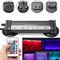 AC110-120V/220-240V RGB IP68 Submersible Air Bubble Aquarium Fish Tank 6 LED Rigid Strip Light