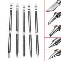 KSGER 5pcs T12-BC2/T12-I/T12-B/T12-K/T12-24 Soldering Iron Tips Soldering Tips