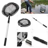 110CM Extending Fishing Net Aluminum Foldable Pole Handle Fish Net